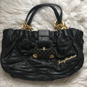 JUICY COUTURE QUILTED LEATHER BAG